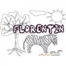 Florentin, coloriages Florentin