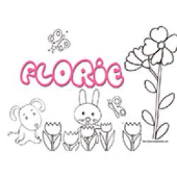 Florie, coloriages Florie