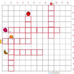 Imprimer une grille de mots croisés fruits cycle 2 grille 1