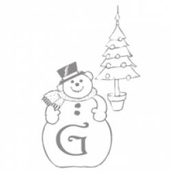 Coloriage lettre G de l'alphabet de Noël