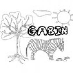 Gabin, coloriages Gabin