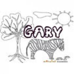 Gary, coloriages Gary