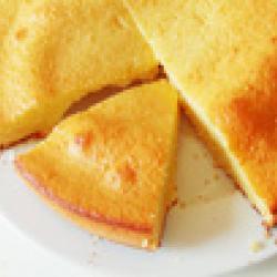 gâteau au yaourt et jus d'orange