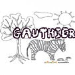 Gauthier, coloriages Gauthier