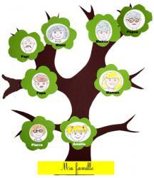 Réalisation de l'arbre familial