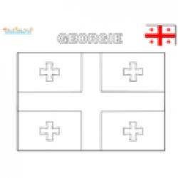 Coloriage drapeau de Géorgie