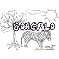 Goncalo, coloriages Goncalo