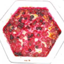 gratin de fruits rouges à la canelle