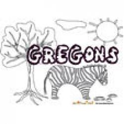 Gregons, coloriages Gregons