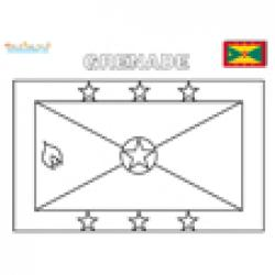 Coloriage du drapeau de Grenade