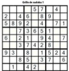 grille 1 de sudoku Primaire cycle 3