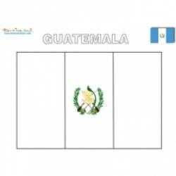 Coloriage des drapeaux d'Amérique centrale