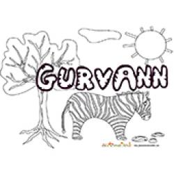 Gurvann, coloriages Gurvann
