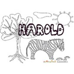Harold, coloriages Harold