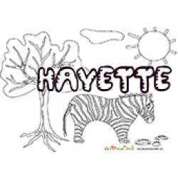 Hayette, coloriages Hayette