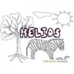 Helios, coloriages Helios