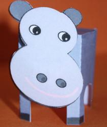 Paper toy hippopotame