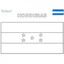 Coloriage du drapeau du Honduras