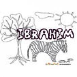 Ibrahim, coloriages Ibrahim