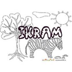 Ikram, coloriages Ikram