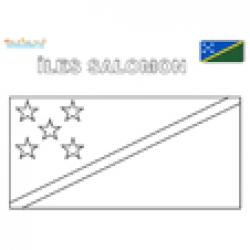 Coloriage du drapeau des îles Salomon