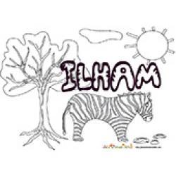Ilhan, coloriages Ilham