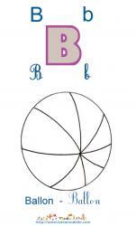 Apprendre le B et colorier le ballon