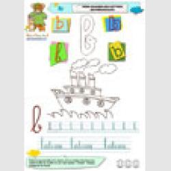 Imagier à écrire la lettre b en minuscule