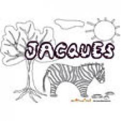 Jacques, coloriages jacques