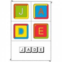 """Jeux à imprimer sur les prénoms à la lettre """"J"""""""