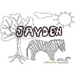 Jayden, coloriages jayden