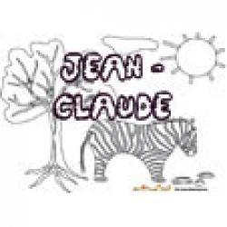 Jean-Claude, coloriages Jean-Claude