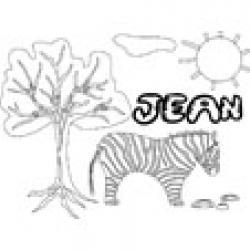 Jean, coloriages Jean