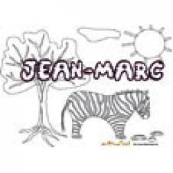 Jean-Marc, coloriages Jean-Marc