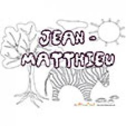 Jean-Mathtieu, coloriages Jean-Mathtieu