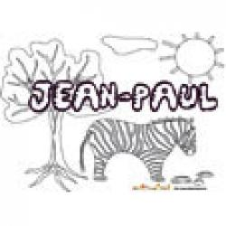 Jean-Paul, coloriages Jean-Paul