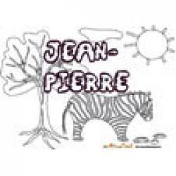Jean-Pierre, coloriages Jean-Pierre