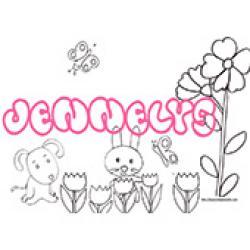 Jennelys, coloriages Jennelys