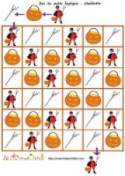 Des jeux de suite logique à imprimer : Halloween
