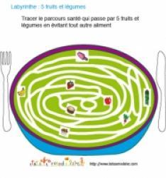 JeuX de labyrinthe fruits et légumes