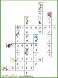 solution du Jeu de mots fléchés: 10 fruits et légumes