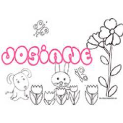 Josiane, coloriages Josiane