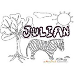 Julian, coloriages Julian