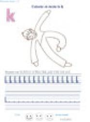 Exercices pour apprendre à écrire les lettres de l'alphabet en cursif