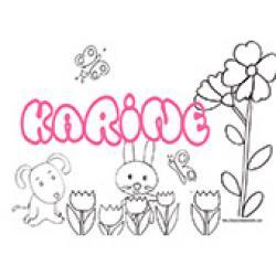 Karine, coloriages Karine