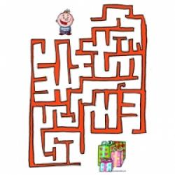Jeu de labyrinthe sur l'hiver
