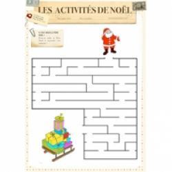 Jeux de labyrinthe de Noël
