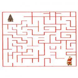 labyrinthe du Père Noël et son sapin
