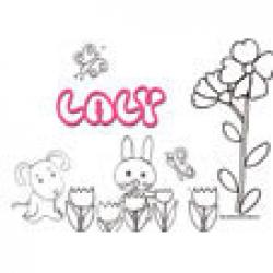 laly, coloriages Laly