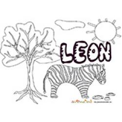 Leon, coloriages Leon